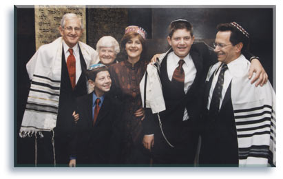 Bar Mitzvah family